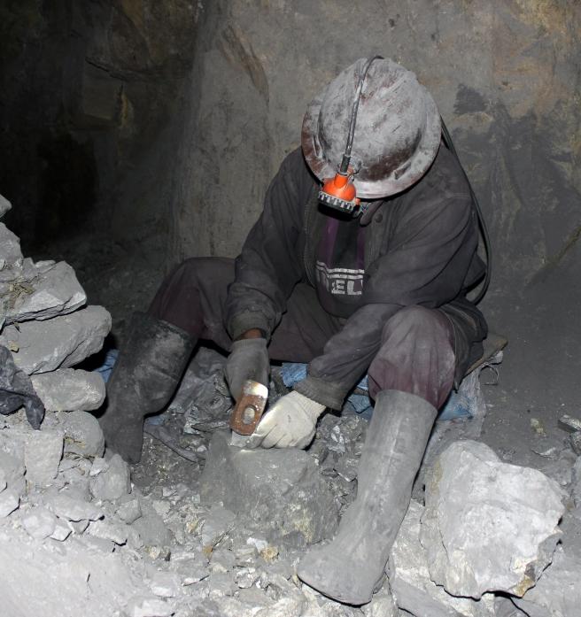 Minero trabajando