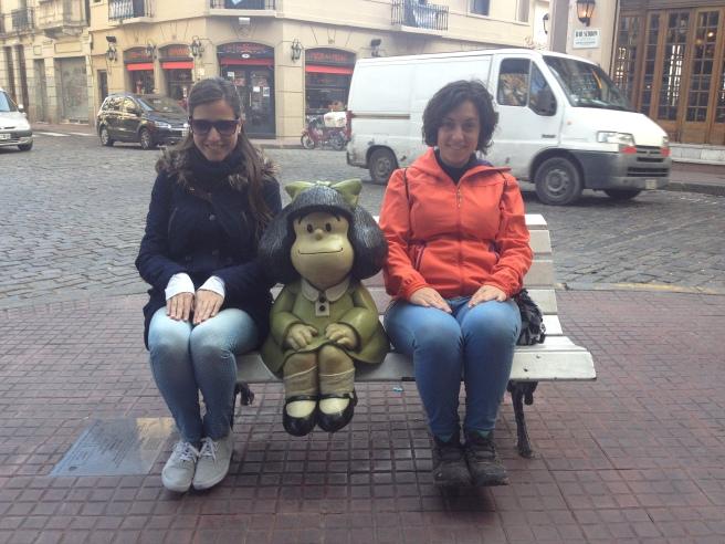 Con Mafalda en el Paseo de la Historieta