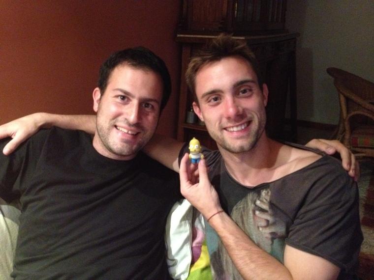 Con Homero y El Pibe