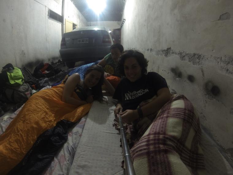 Durmiendo en el garaje