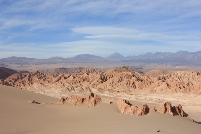 Vista de lo alto del Valle de la Muerte