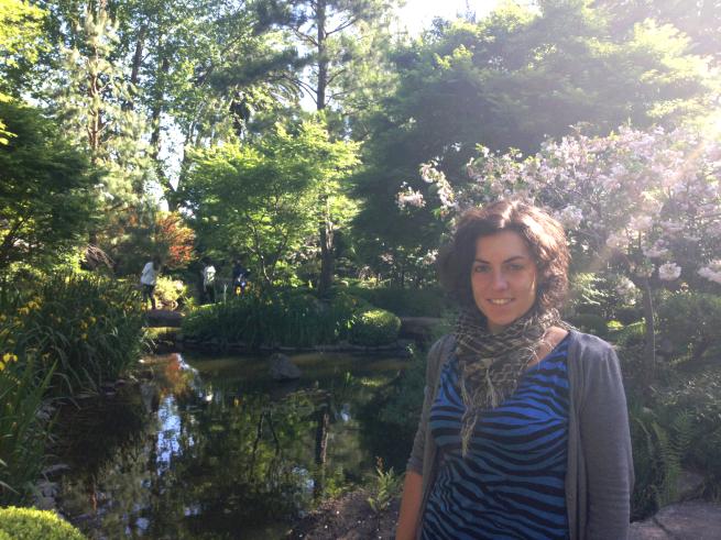 Isa en el jardin Japonés