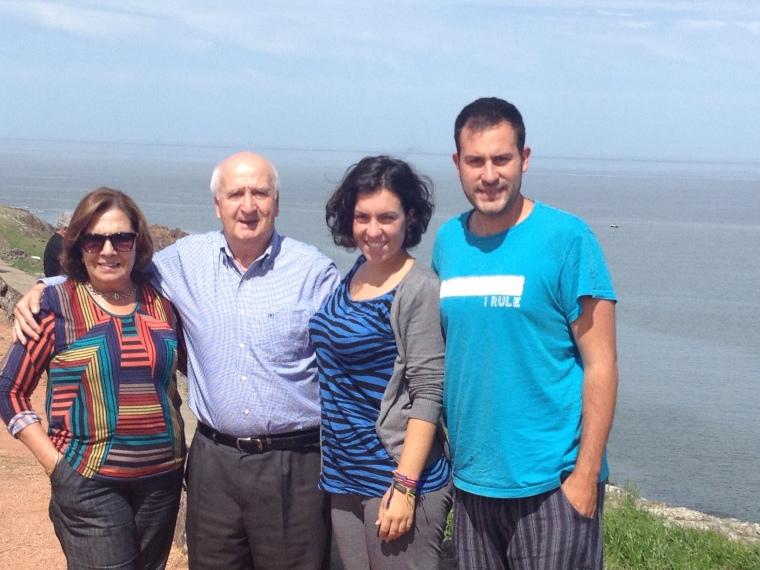 Con Roberto y su mujer en Punta Ballenas