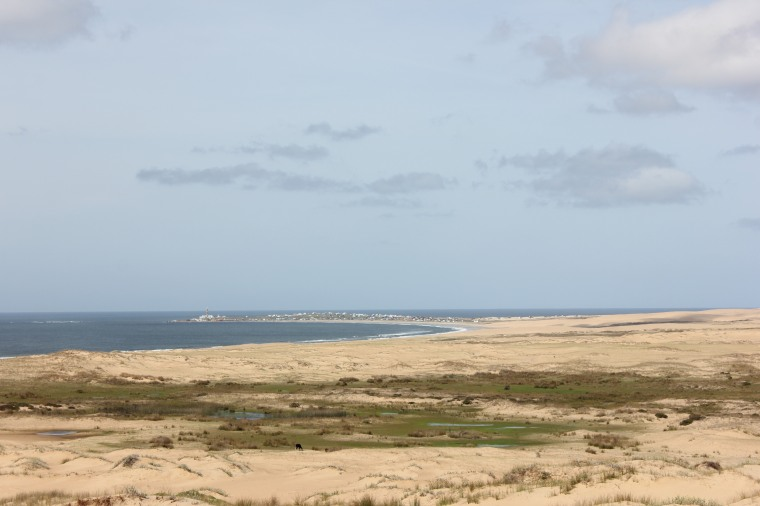 Vista de Cabo Polonio desde el Cerro Buena Vista