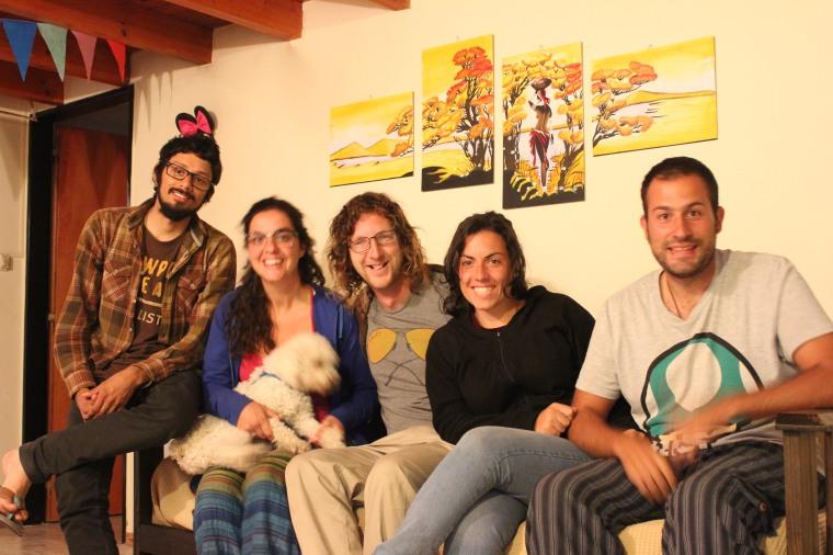 Con Fabian, Raquel y Cristian