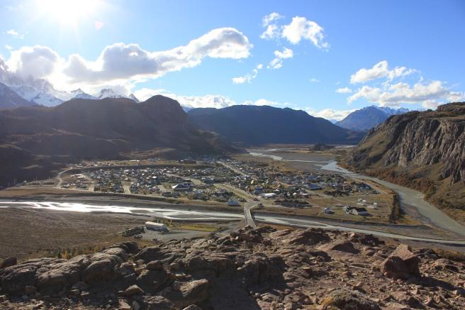 Vista de El Chalten desde El Mirador del Condor