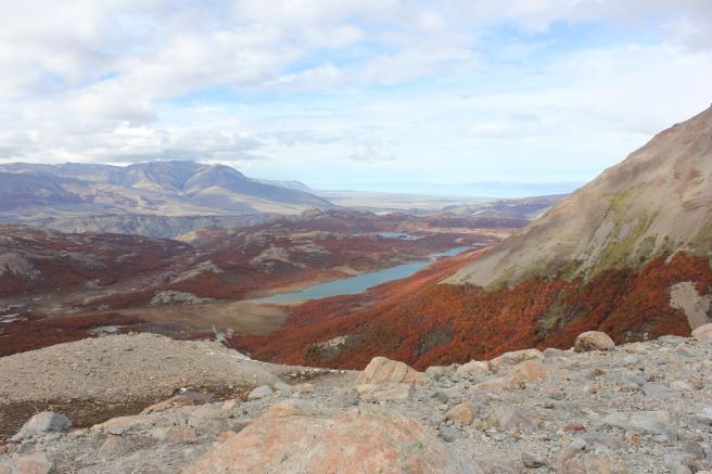 Vista desde la Laguna de los tres