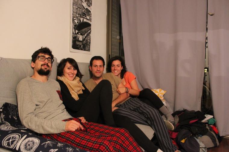 Con Lidia y Álvaro