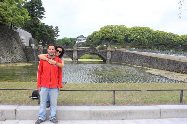 Con el Imperial Palace de fondo