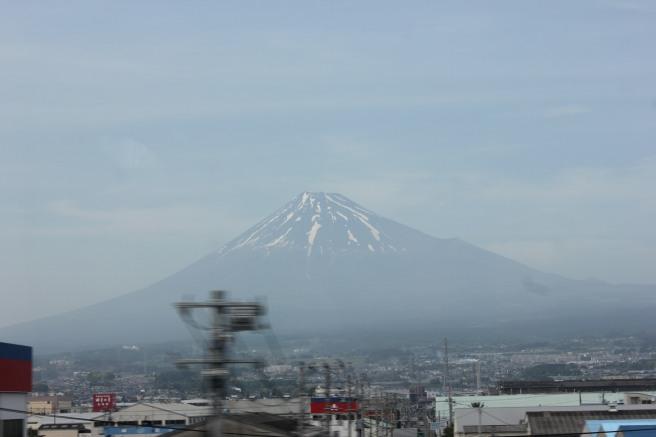 Monte Fuji desde el tren bala