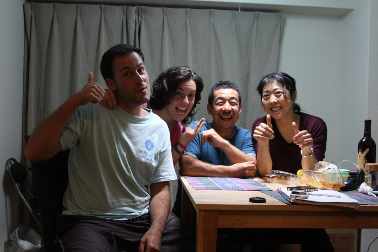 Con Akemi y Kiyo