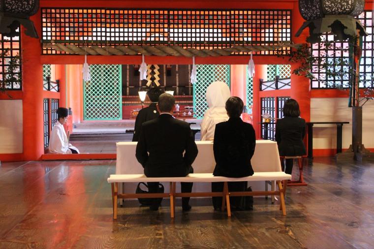 Boda en el Santuario Itsukushima