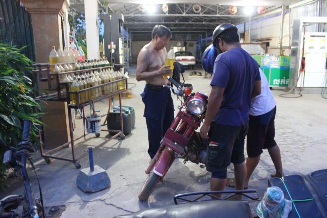 Típica gasolinera asiática